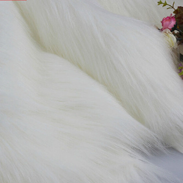 Long Plush Doll Cloth Decoration Imitating Fox Fur Carpet Jewelry Phone Counter Cover Cosplay Artificial 3