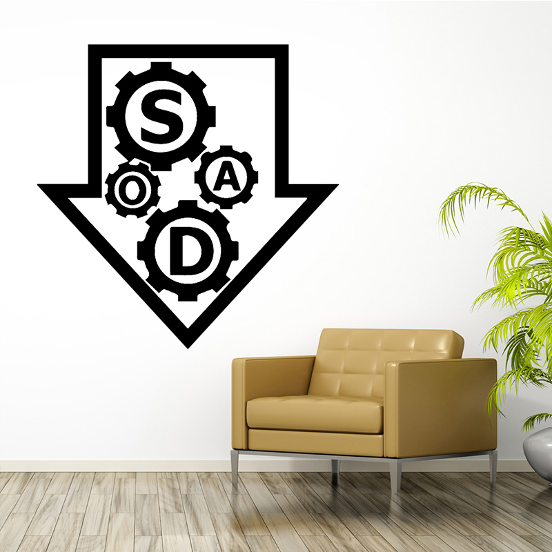 Diy Direction Environmental Protection Vinyl Stickers For Living Room Kids Room Wall Decal Home Decor