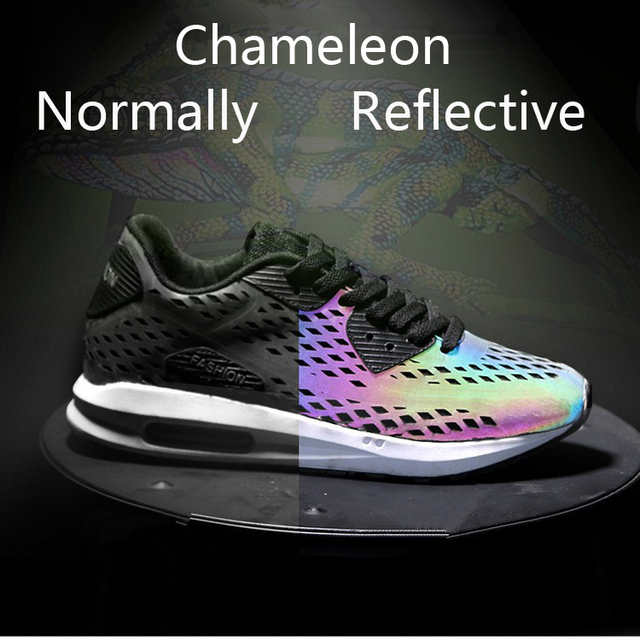 Summer Style 3m Reflective Sneakers Chameleon Sport Casual Light Up
