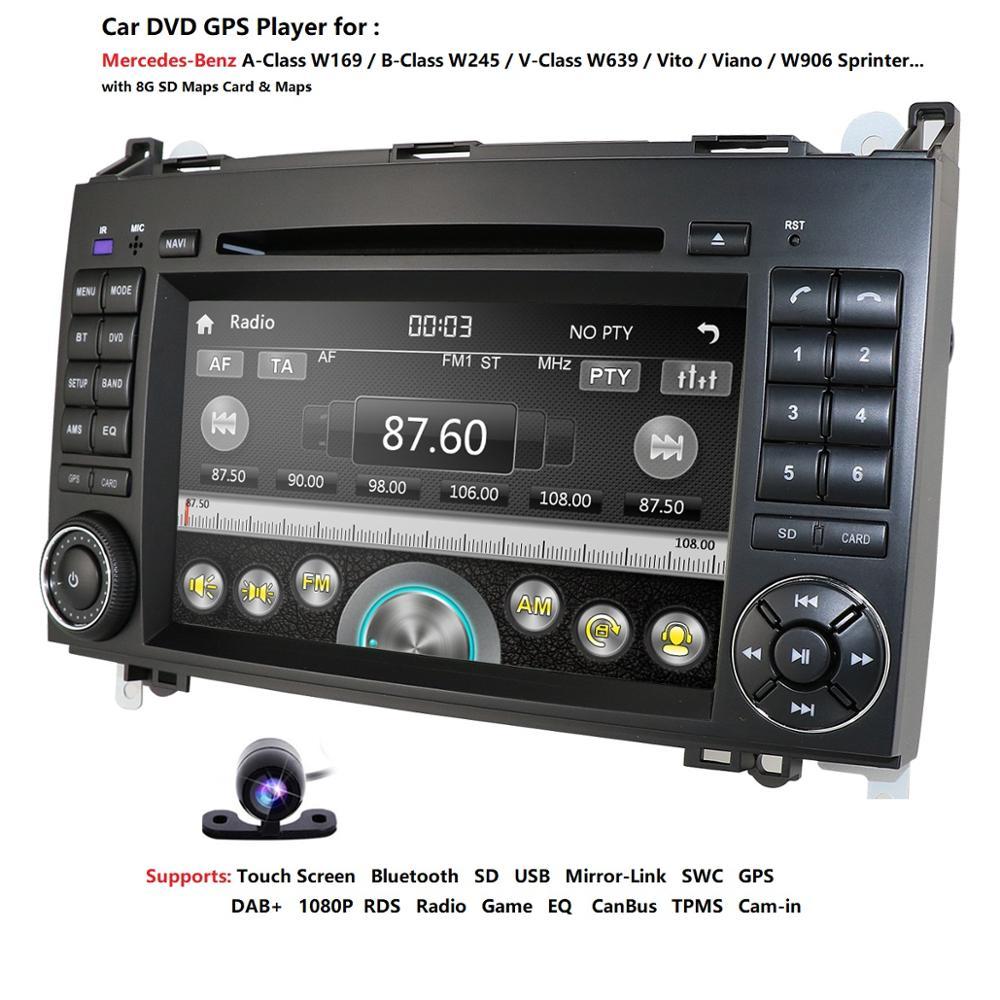 2Din AutoRadio Car DVD palyer for Mercedes Benz Sprinter B200 W209 W169 W169 B klasse W245