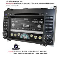 2Din AutoRadio Car DVD palyer for Mercedes Benz Sprinter B200 W209 W169 W169 B klasse W245 B170 Vito W639 gps navigation SWC BT
