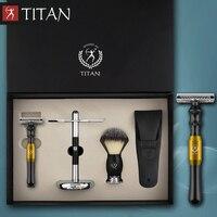 Titan classic safety razor double edge shaving safety razor set metal handle shaving kit free shipping