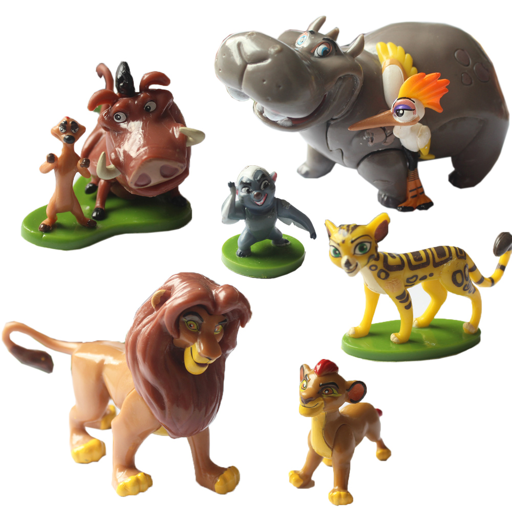 6pcs set the lion king simba nala timon model figurine pvc action figures classic toys