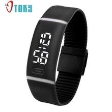 Новое поступление спортивный браслет светодиодный унисекс часы Для Мужчин Смотреть Мода цифровые часы время даты Для женщин наручные часы подарок 1 шт.