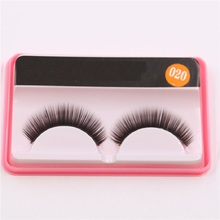 020 one pair of dress mascara thick slim handmade natural bare makeup false eyelashes factory direct +
