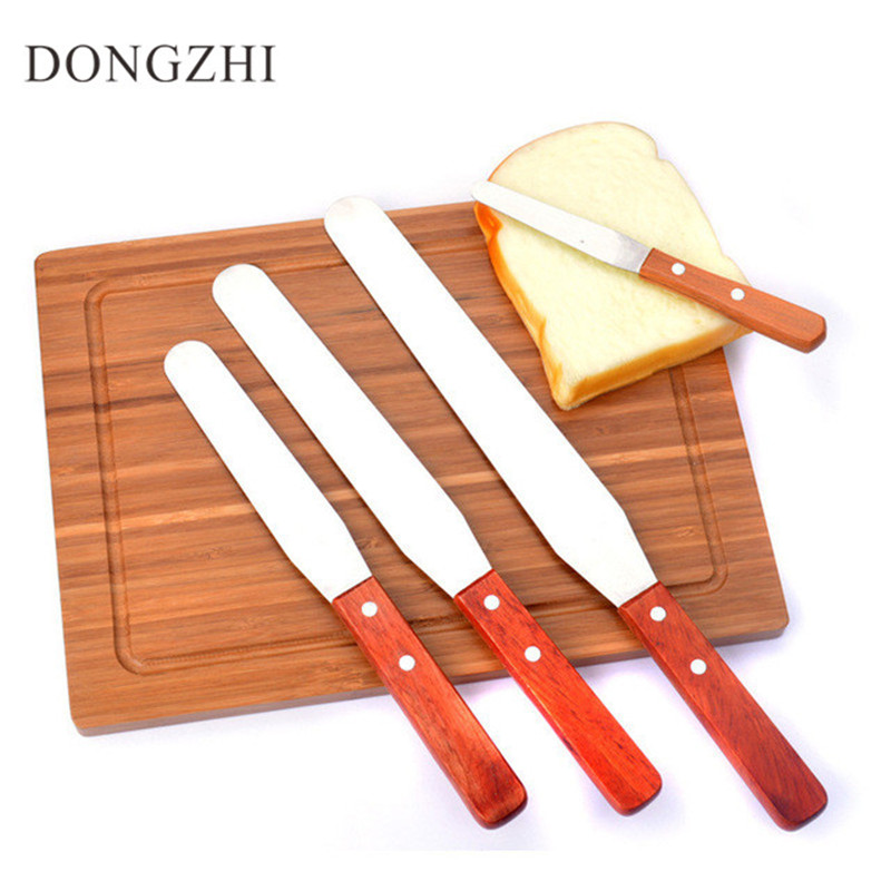 4 PCS 4/6/8/10 Inch Cake Cream Knife Cake Smoother Baking & Pastry Spatulas Stainless Steel Bakeware Butter Cake Tools BK027