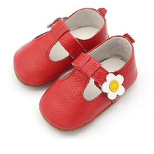 Angelatracy 2019 New Arrival Soft Infant Flower Cow Muscle Genuine Leather Baby Shoe Non-slip Cute Girl Toddler Sandals