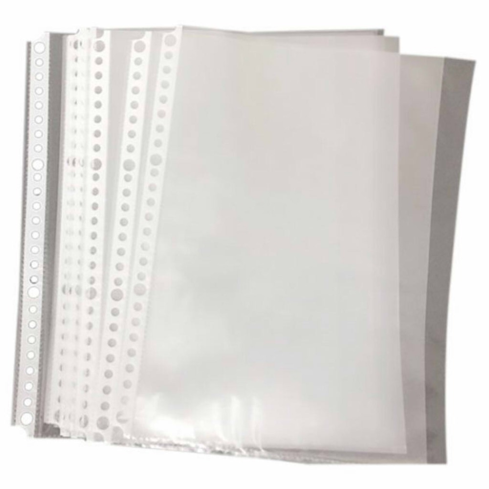 Pack of 200 A5 Clear Punched Pockets - Plastic Poly Folders File Folders Student GiftsPack of 200 A5 Clear Punched Pockets - Plastic Poly Folders File Folders Student Gifts