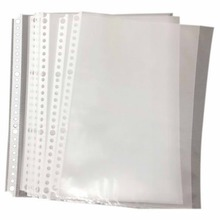 Pack of 200 A5 Clear Punched Pockets   Plastic Poly Folders File Folders Student Gifts