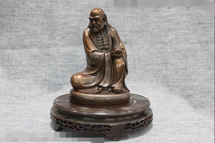 China Buddhism Pure Red Bronze Damo Ancestors Bodhidharma Dharma Buddha StatueChina Buddhism Pure Red Bronze Damo Ancestors Bodhidharma Dharma Buddha Statue