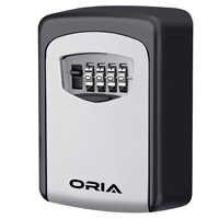 ORIA 4 Digit Combination Durable Key Storage Lock Box Wall Mounted Safety Key Lock Box Large Storage Capacity