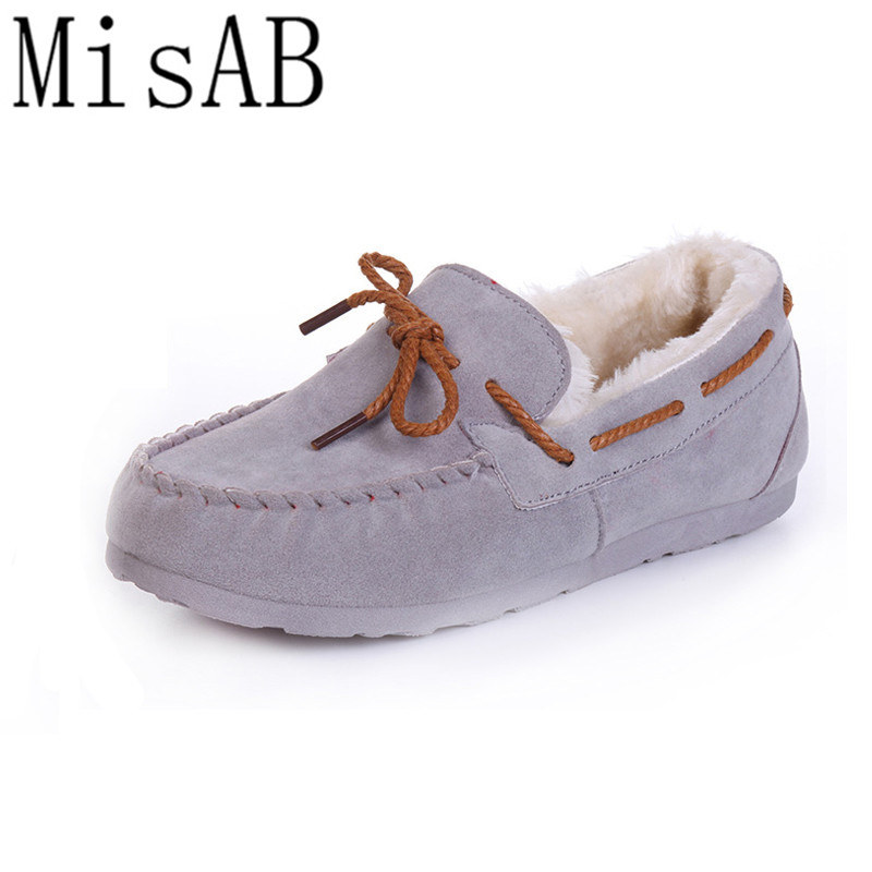 2016 winter women flats warm fur winter boots slip on loafers flat  comfortable winter women casual shoes plus size ALF250 jingkubu 2017 autumn winter women ballet flats simple sewing warm fur comfort cotton shoes woman loafers slip on size 35 40 w329