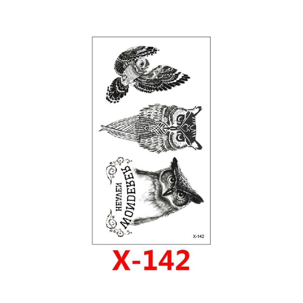 Waterproof Temporary Tattoo Sticker Black Owl Branch Bird HB301 Sexy Women Men Body Art Tattoo Sticker Decal Products Desi X-142