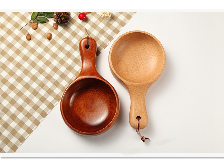 Bowls 1pc Japanese Big Wooden Handle Bowl Fried Rice Salad Bowl With Handle Tableware Dinnerware Accessories Lc 004 Beneficial To The Sperm Dinnerware
