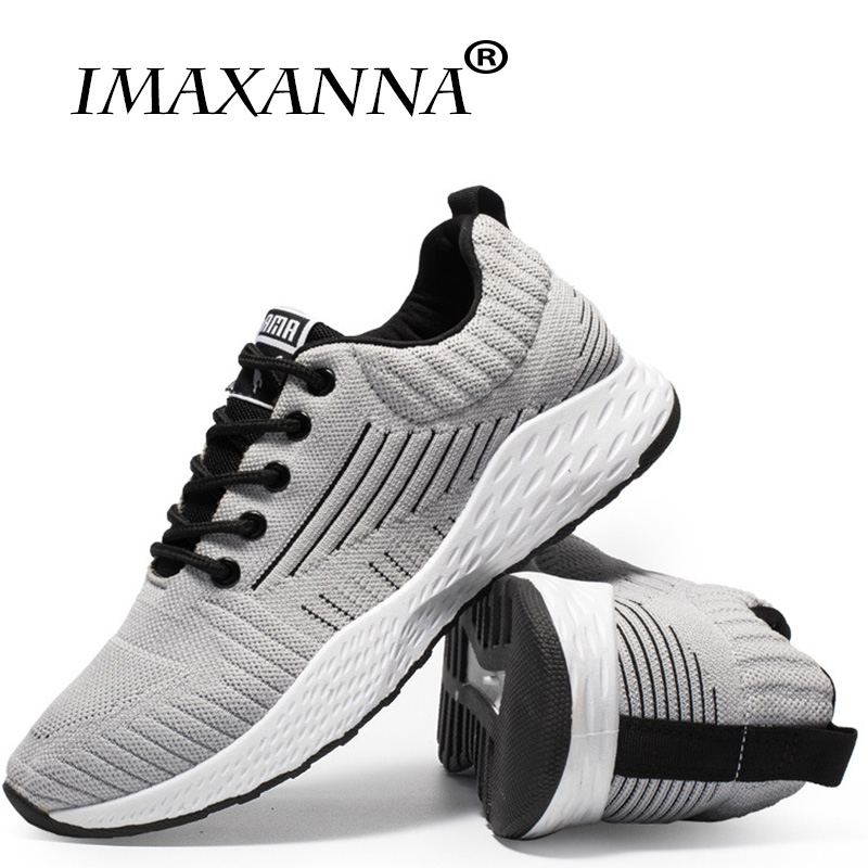 цена на IMAXANNA New style men's shoes summer breathable net shoes leisure travel shoes flying weave sports wind single shoes