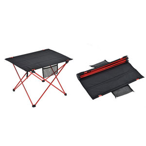 Image 5 - Outdoor Furniture Table Red Folding Camping Table Light Color Weight Ultralight Desk Fishing Tables Modern Foldable Furniture