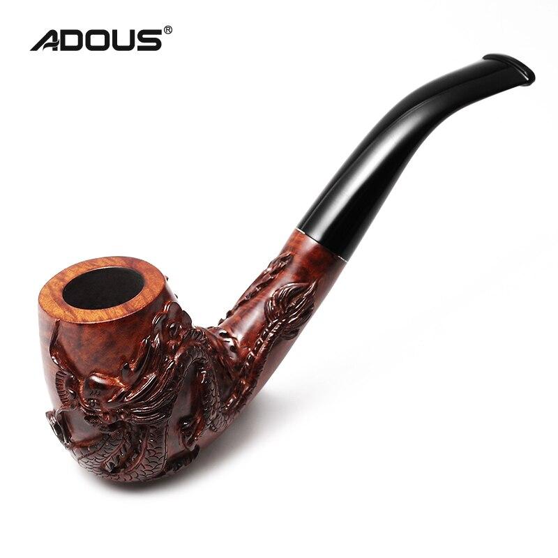 2020 neue ADOUS Hand geschnitzten Drachen und Phoenix China briar wind Tabak rohr Rauchen rohre 9MM - 2