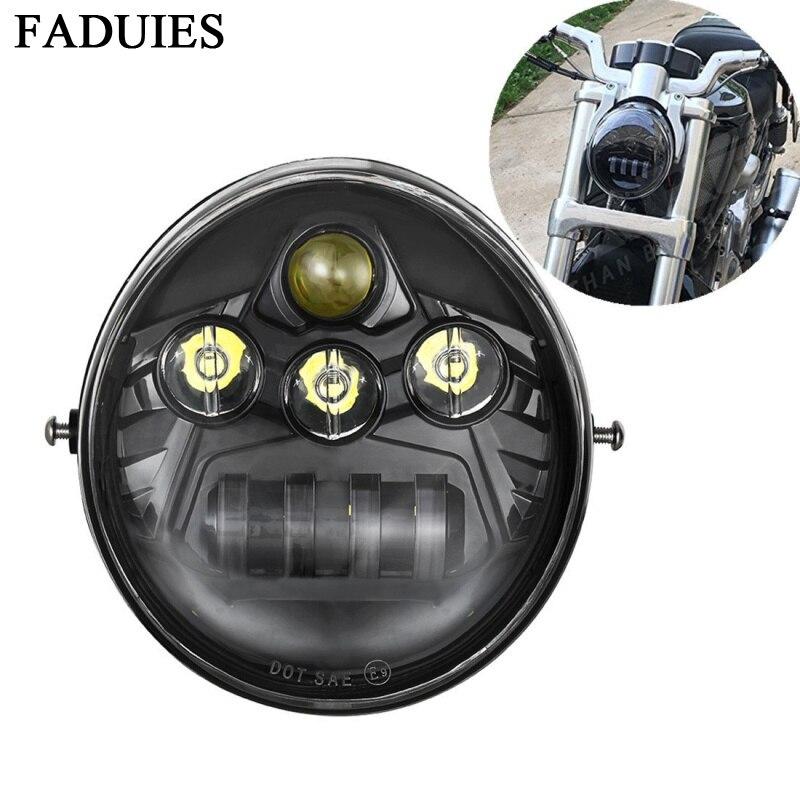 FADUIES 60W Motorcycle V Rod Led Lights For 02-16 Year  Bike VROD Motorcycle LED Headlight  For Bike V Rod VRSCF VRSC VRSCR