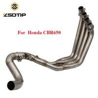 ZSDTRP мотоцикл полной выхлопной системы трубы для Honda CBR650F CBR650 CB650F 2014 2018