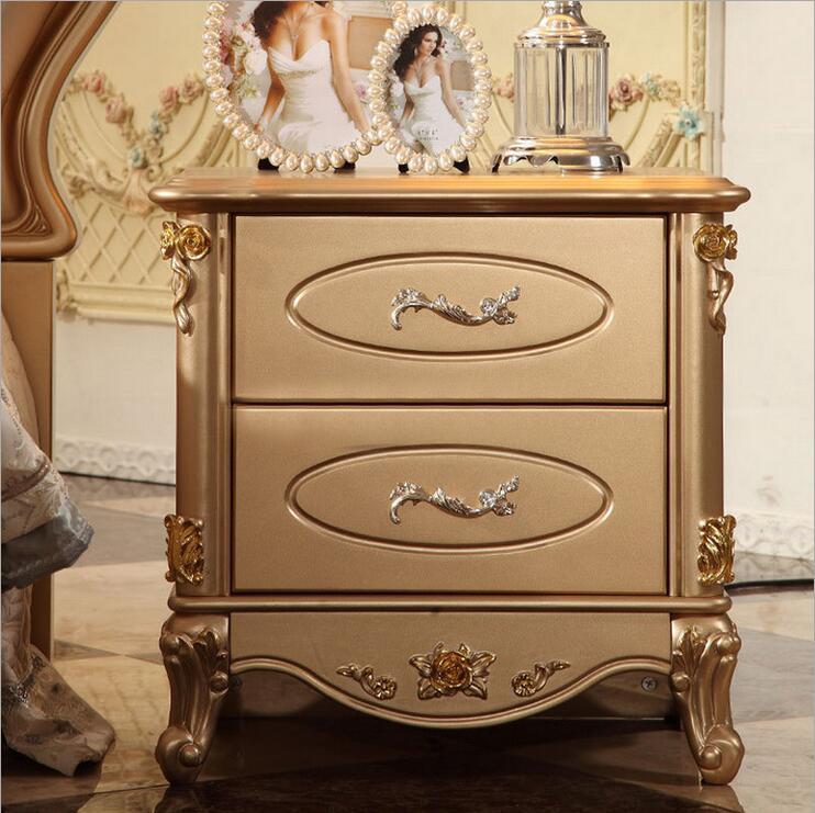 Alta qualidade de moda europeu francês esculpida cama mesinha de cabeceira p10058