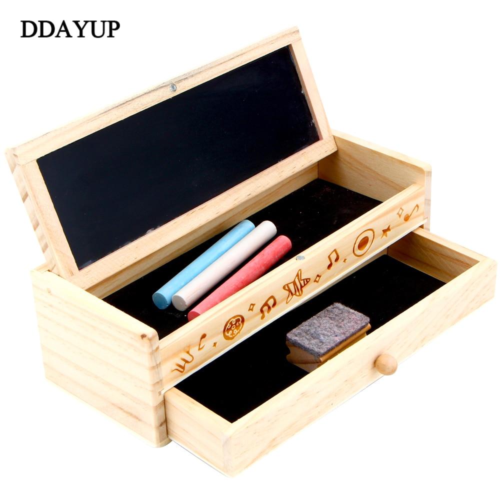 Handmade Wooden Pencil Case DIY Storage Organizer Holder ...