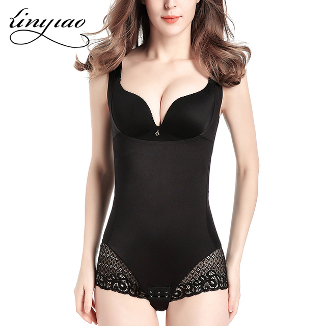 9f3e7f8c606 Slimming Braless Body Shaper Lace Angle Waist Control Jacket Sexy Thin  Trainer Cotton Spandex Shapewear Tummy Control Corset