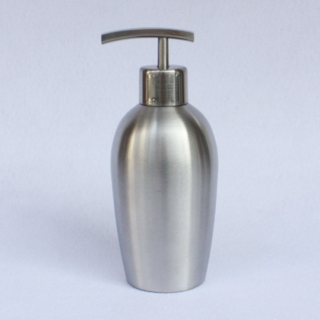 380ml Stainless steel hand sanitizer bottles empty shampoo lotion bottle Cosmetic Packing container with pump