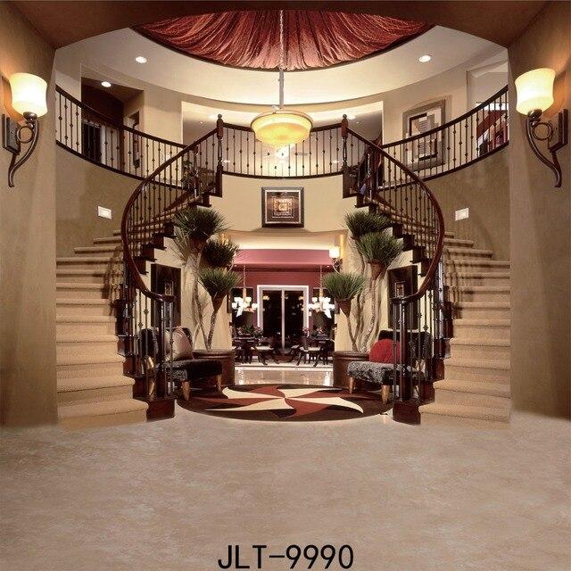 Sjabloon 8x8ft arte cl sico decoraci n sal n y escaleras - Decoracion escaleras de interior ...