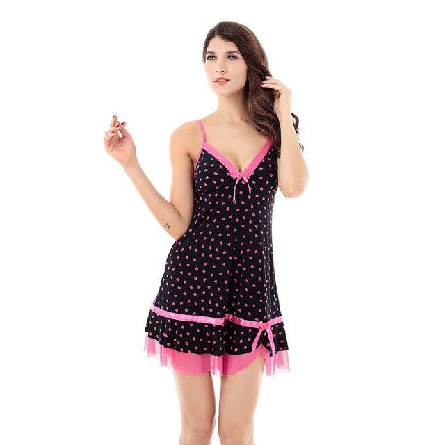 Summer Sexy Nightgown Womens Lingerie Spaghetti Strap Sleepwear Girls Womens Nightgowns Nightdress Women Sleepwear Night Dresses