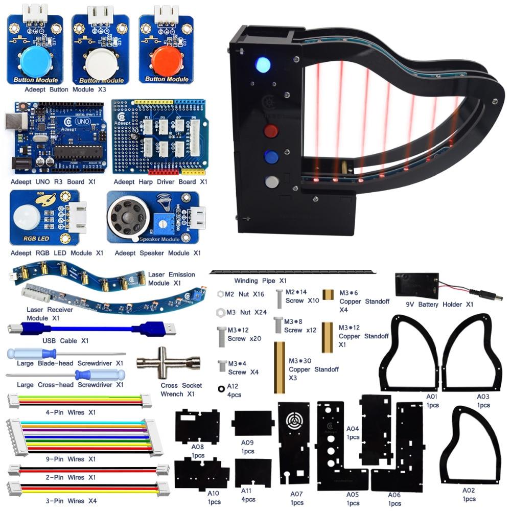 Kit de photorésistances Adeept pour Piano Laser avec transmetteur Laser pour Arduino UNO R3