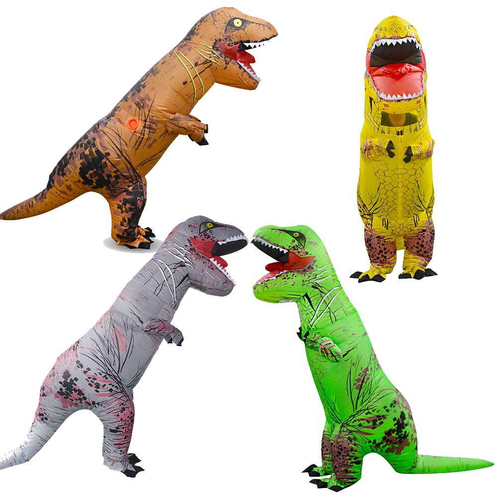 Funny Adult T REX Inflatable Costume Halloween Cosplay Costumes Dinosaur Costume Party Fancy Dress Animal Jumpsuit  Event Props