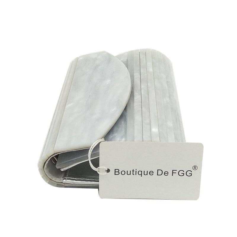 Chaîne Beige D'embrayage Blanc Bal Mariage Bandoulière Rayé Noir TcK1JFl