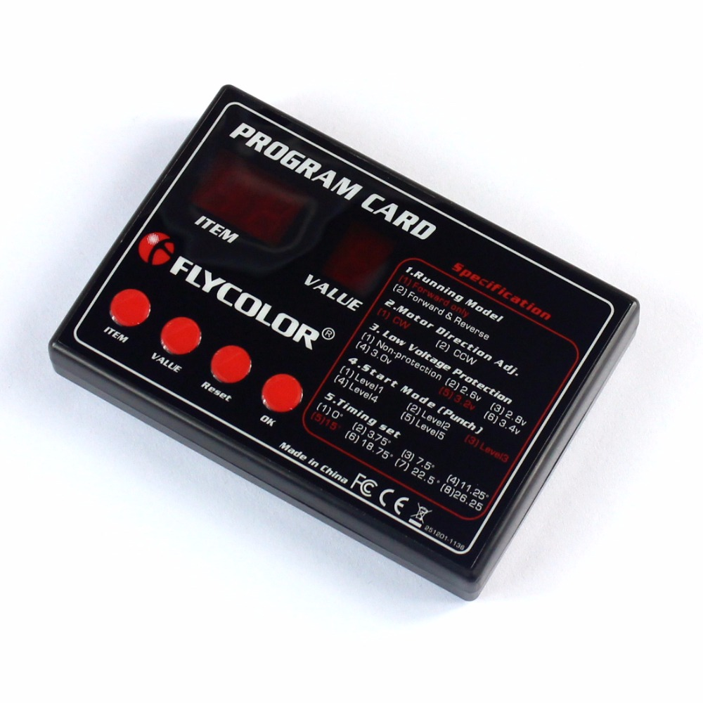 ESC Pragram Card Speed Controller for Flymonster ESC RC Model Ship Aircraft Boat Accessories