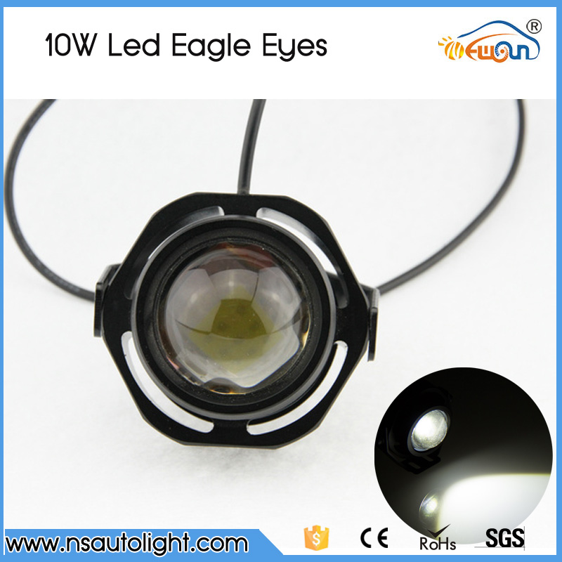 1 pair  2000LM 20W CREE chips DRL LED Eagle Eye Car Fog Daytime Running Reverse Backup Parking Light Lamp IP67 waterproof 1 pair 12 led strip flexible snake style eagle eye car drl daytime running light driving daylight safety day fog lamp