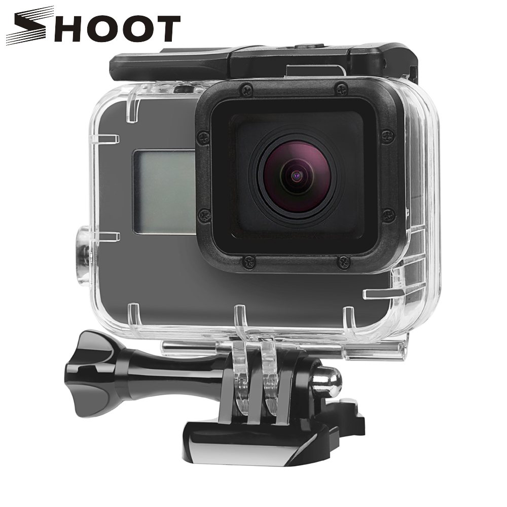 SHOOT 40M Underwater Waterproof Case for GoPro Hero 7 5 6 Black Action Camera Protective Housing Case for Go Pro 7 6 5 Accessory cool pirate pattern protective crystalplastic case for iphone 5 black silver pink