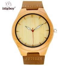 IBigboy IB-1600Bb Extreme Light Relojes Movimiento de Cuarzo Reloj De Madera De Bambú