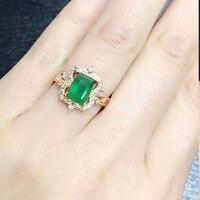 Настоящее anillos QI xuan_fashion jewelry_colombia зеленый Камни модные rings_plated розовое золото Женщина Rings_Factory непосредственно продаж