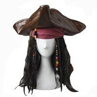 Pirates Of The Caribbean Captain Jack Sparrow Cosplay Headwear Hat Headband Halloween Costume Accessories Headpiece Movie Props