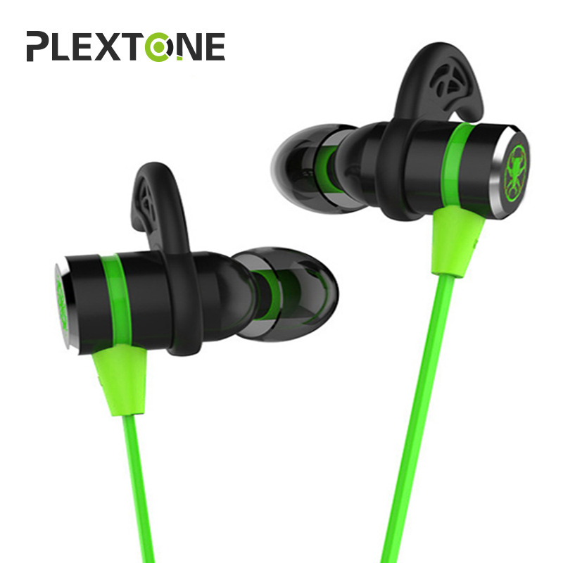 PLEXTONE G20 In-ear Earphone With Mic Wired Magnetic Gaming Headset Stereo Bass Earbuds Computer Earphone For Phone iPhone Sport anbes in ear wired earphone metal magnetic headset for phone with mic microphone super bass 3 5mm jack standard stereo earbuds