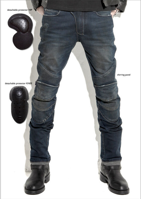 Newest uglyBROS Featherbed jeans The standard version car ride jeans trousers Motorcycle jeans Drop the jeans