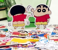 45pcs/bag Crayon Shin Chan Storyline album Scrapbook waterproof decoration stickers DIY Handmade Gift Scrapbooking sticker(China)