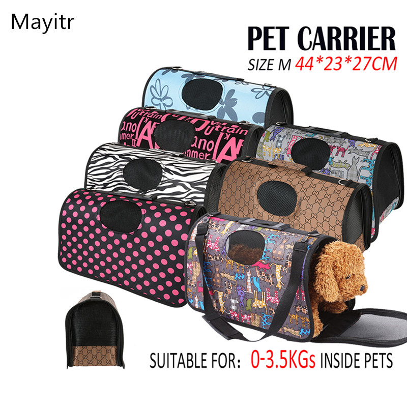 Portable Middle Pet Carrier for Puppy Dog Cat Folding Travel Carry Bag Cage Crate 7 colors