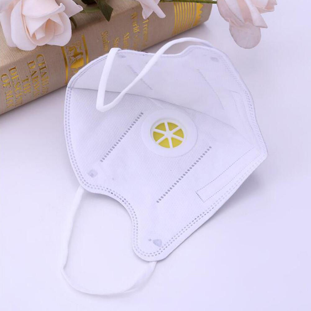 2pcs/set Disposable Respirator Non-woven Cloth Dust-proof Mask With Valve Random Color Dust And Fogproof Mask