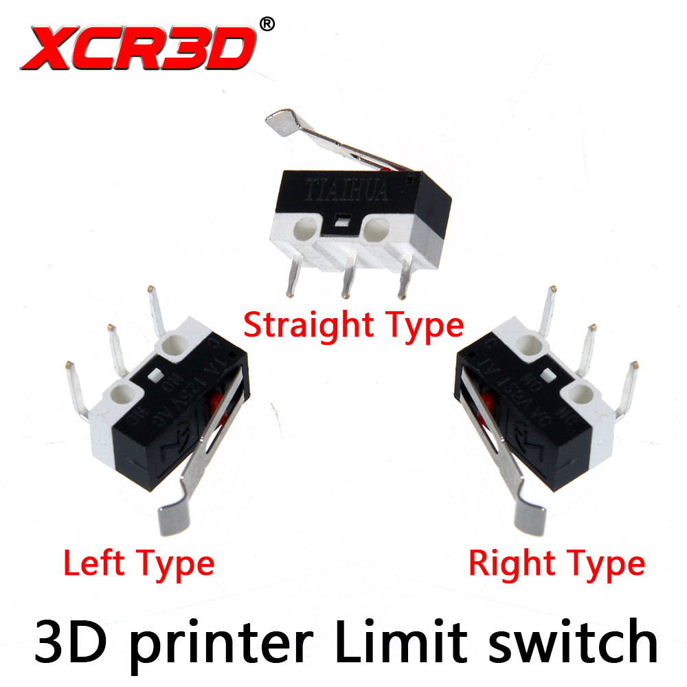 XCR3D 10pcs/lot Endstop 3D Printer Parts Micro Limit Switch for I3 Delta Kossel Makerbot Printer RAMPS 1.4 DIY Accessories freeshipping 5pcs lot endstop mechanical limit switches 3d printer switch for ramps 1 4