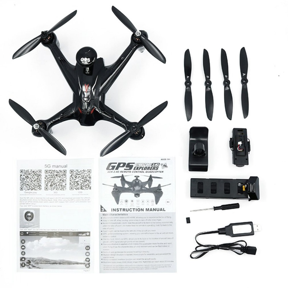 Global Drone GW198 R/C Professional 5G WiFi Brushless GPS Quadrocopter with Camera Altitude Hold Helicopter Follow Me RC Drone