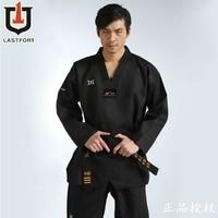 Black Adult Taekwondo Trainers clothing Professinal Master Taekwondo Dobok Protector Taekwondo Uniform clothes for men women