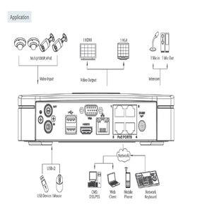 Image 5 - Il porto astuto 4Ch NVR4104 P 4KS2 8CH del videoregistratore 4K 4 PoE della rete di Dahua NVR Mini 1U fino alla macchina fotografica del IP di 8MP DVR