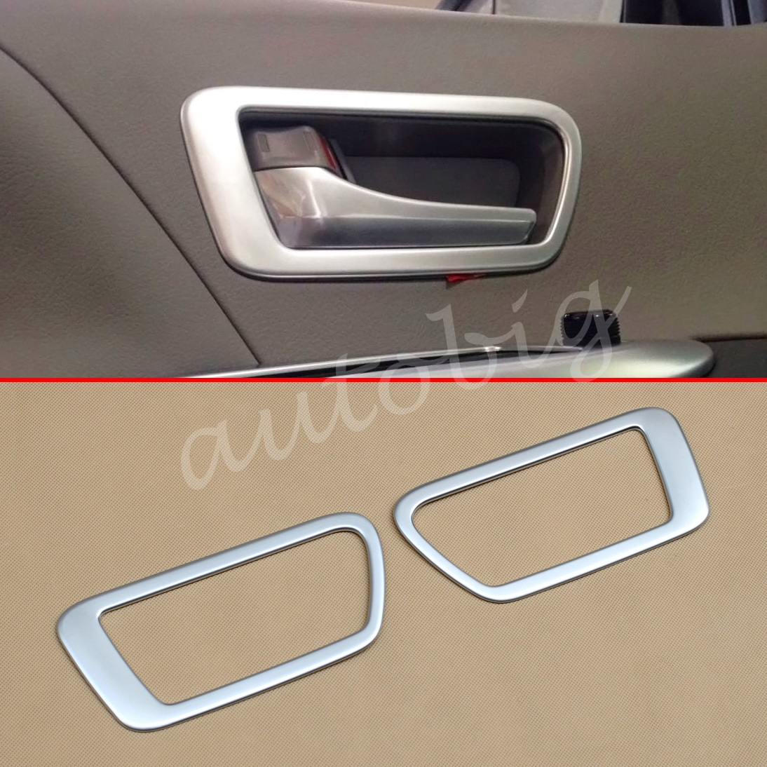 Interior Door Handle Cover For Toyota Sienna Xl30 2017 2019 Matte Chrome Trim Accessories Pack Of 2