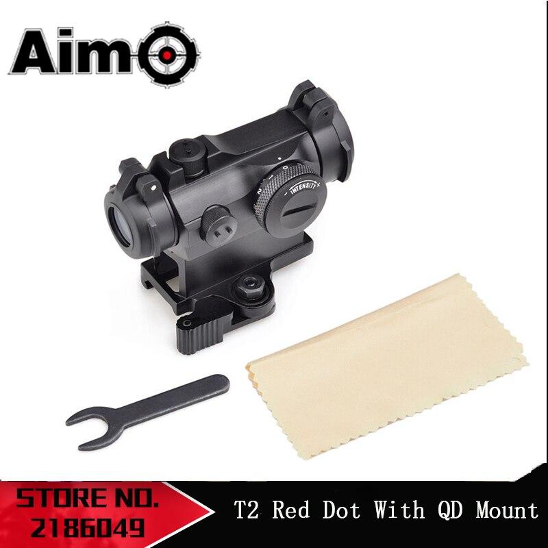 Aim AIrsoft Red Dot Sight Mit QD Berg Tactical Zielfernrohr Jagd shoot  Zielfernrohr AO5074Riflescopes