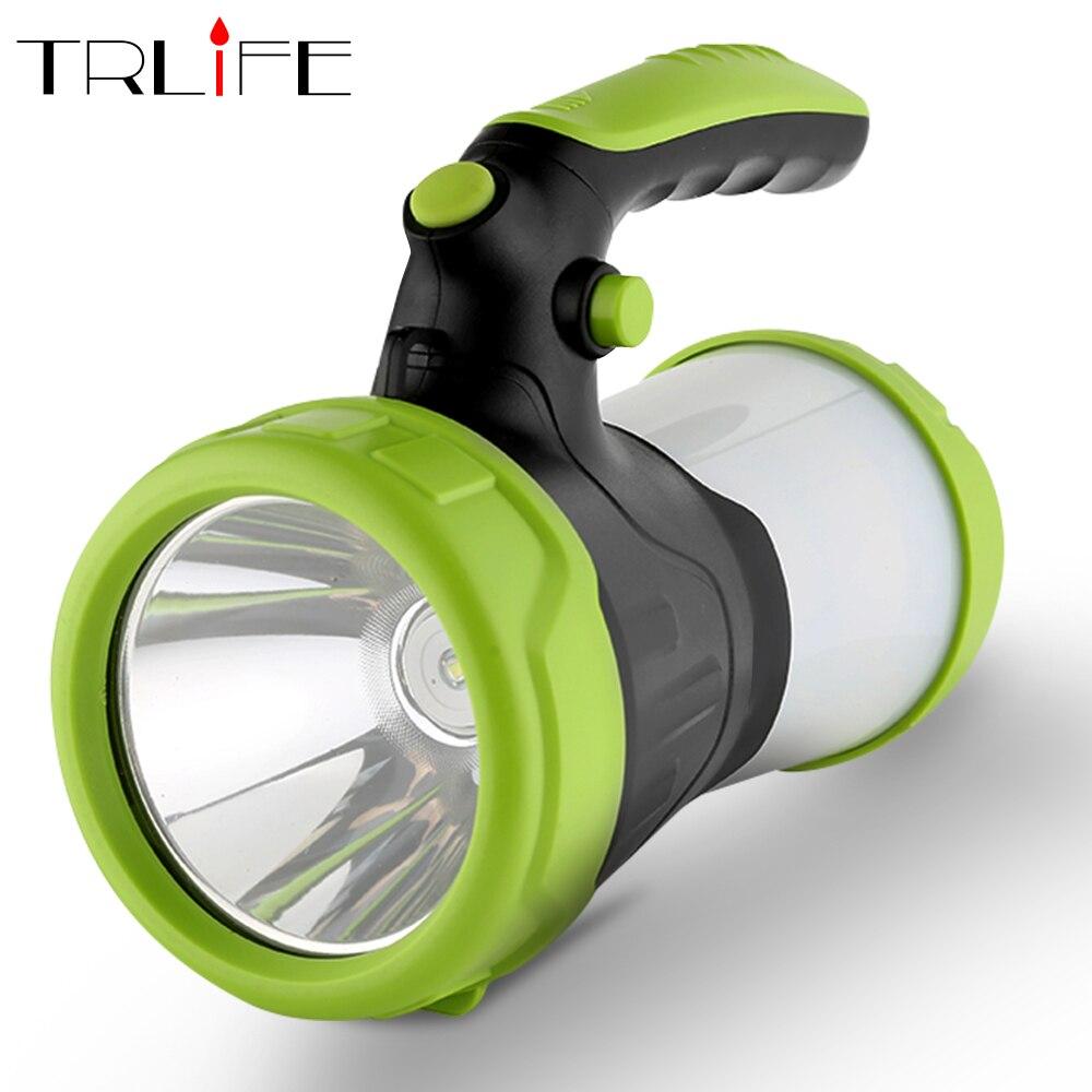 6000mAh LED rechargeable par usb Camping Portable projecteur lanterne lampe de poche batterie externe projecteur lumière extérieure torche pêche
